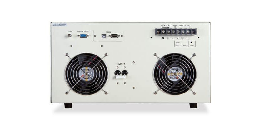 Automated AC Power Source 7040 - Back